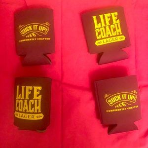 Accessories - LIFE COACH LAGER  Set of 4 Koozies SUCK IT UP!